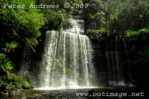 Russell Falls, Mt Field National Park. Photo copyright Peter Andrews.
