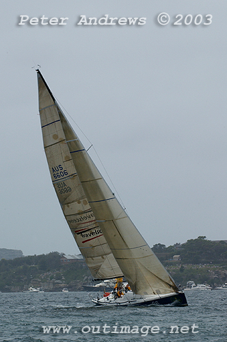 Bob Steel's previous Quest on Sydney Harbour ahead of the 2003 Rolex Sydney Hobart Yacht Race. A a Nelson Marek 46, Steel had also won overall with this boat in the 2002 Rolex Sydney Hobart Yacht Race. Photo copyright Peter Andrews.