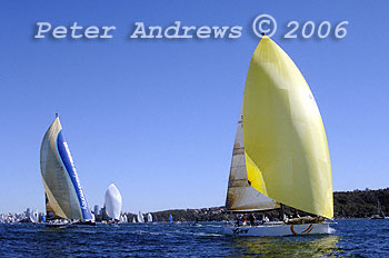 The start of the 2006 Sydney to Mooloolaba and Sydney to Mackay Yacht races' on Sydney Harbour.