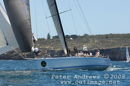 Andrew Short Marine's Reichel Pugh 80, Shockwave 5, seen here on Sydney Harbour in late December 2008. Photo copyright Peter Andrews.