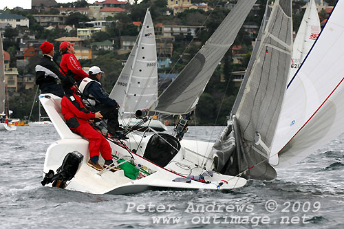 Justin Graham's Jet, during Race 11 of the Audi Winter Series on Sydney Harbour. Photo copyright Peter Andrews.