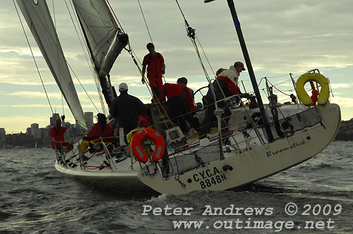 Cranitch and Wallace's Broomstick finished third, during Race 11 of the Audi Winter Series on Sydney Harbour. Photo copyright Peter Andrews.