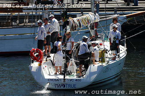 Andrew Saies' Beneteau First 40 Two True in Hobart's Constitution Dock after finishing the Rolex Sydney Hobart Yacht Race. Photo copyright Peter Andrews, Outimage.