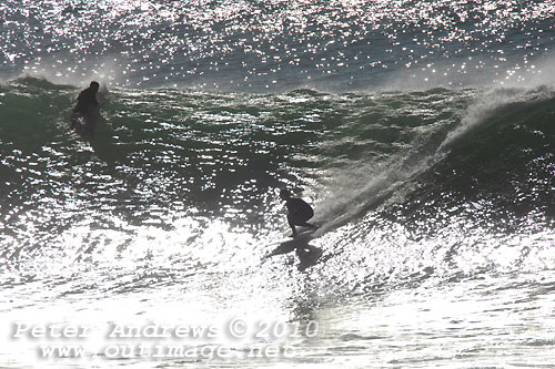 A morning surf on the New South Wales Illawarra Coast, Australia, Sunday September 18, 2010. Photo copyright Peter Andrews, Outimage.