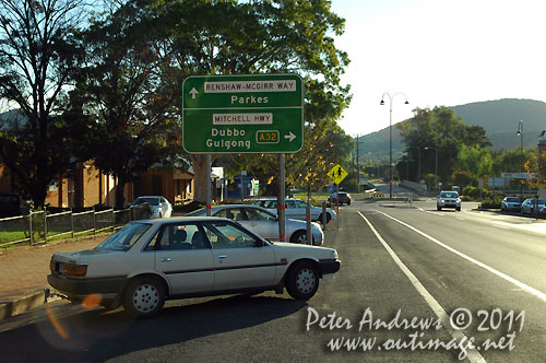 Road signs at Wellington, NSW Australia.  Photo copyright Peter Andrews, Outimage Australia.