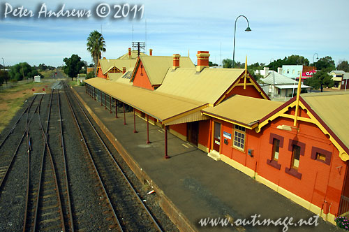 Nyngan Railway Station, NSW Australia. Photo copyright Peter Andrews, Outimage Australia.