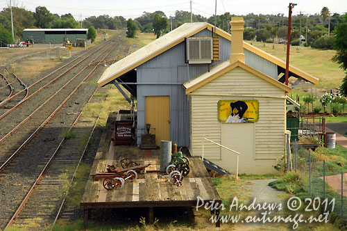 The Goods Shed at Nyngan Railway Station, NSW Australia. Photo copyright Peter Andrews, Outimage Australia.