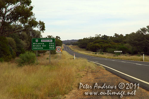 Back on the Barrier Highway, NSW Australia and heading towards Wilicannia. Photo copyright Peter Andrews, Outimage Australia.