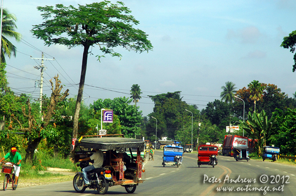 Coming into Kidapawan City, Cotabato Province, Mindanao, Philippines. Photo copyright Peter Andrews, Outimage Australia.