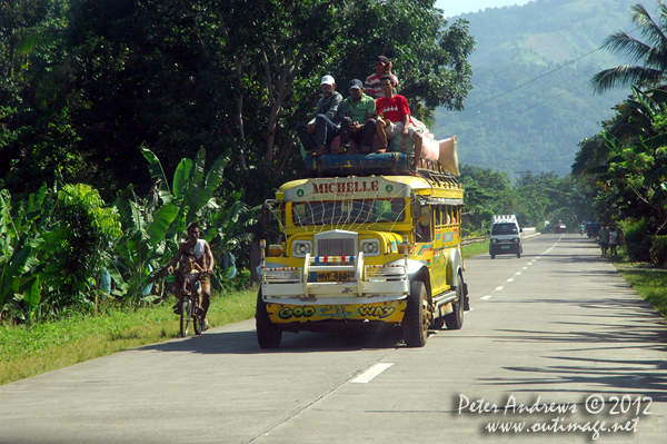A jeepney packed to the maximum, Cotabato Province, Mindanao, Philippines. Photo copyright Peter Andrews, Outimage Australia.