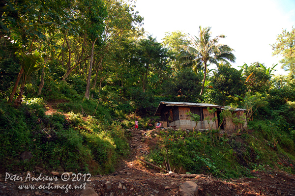 A house on the hill, Cotabato Province, Mindanao, Philippines. Photo copyright Peter Andrews, Outimage Australia.