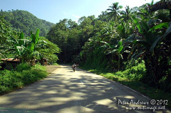 A mountain pass on the President Roxas - Arakan Valley Road, Cotabato Province, Mindanao, Philippines. Photo copyright Peter Andrews, Outimage Australia.