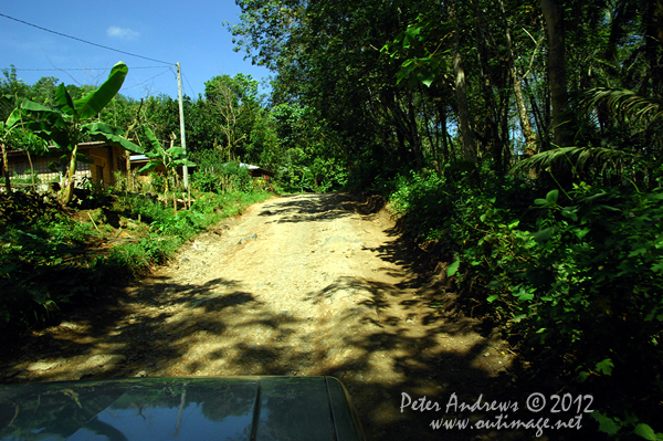 A back-road near Barangay, Cotabato Province, Mindanao, Philippines. Photo copyright Peter Andrews, Outimage Australia.