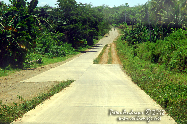 Incomplete road construction on the Paco Roxas - Arakan Road, Cotabato Province, Mindanao, Philippines. Photo copyright Peter Andrews, Outimage Australia.