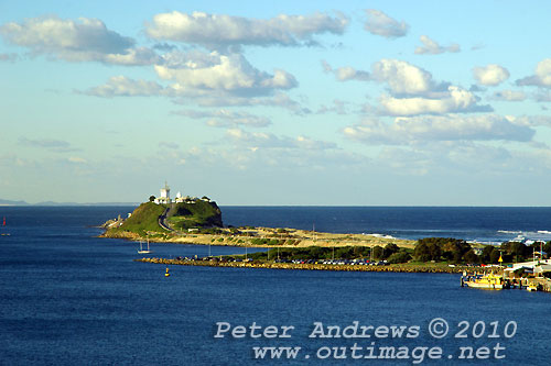 Nobby's Head and the mouth of the Hunter River Newcastle. Photo copyright Peter Andrews, Outimage Publications.
