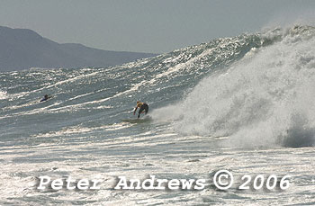 The big swell, April 9, 2006 at Sandon Point.