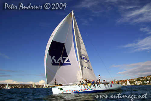 David Pescud's Lyons 52 Kayle, during the Winter Series on Sydney Harbour in 2009. Photo Copyright Peter Andrews.