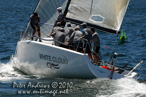 Brett Neill's New Zealand entry White Cloud, during the 2010 Rolex Trophy One Design Series, offshore Sydney, Photo copyright Peter Andrews, Outimage Australia.