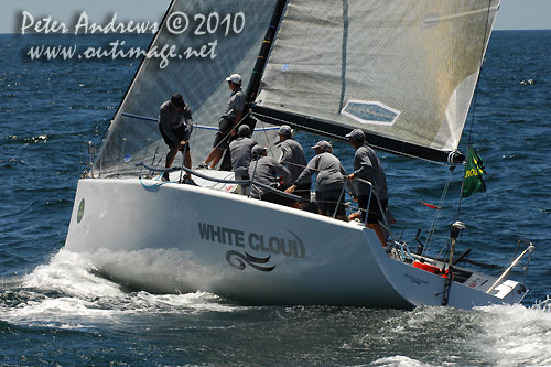 Brett Neill's White Cloud crew from New Zealand, during the Rolex Trophy One Design Series, Sydney Australia. Photo copyright Peter Andrews, Outimage Australia.