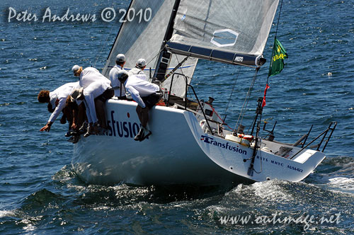 Guido Belgiorno-Nettis' Transfusion (AUS), during the 2010 Rolex Trophy One Design Series, offshore Sydney. Photo copyright Peter Andrews, Outimage Australia.