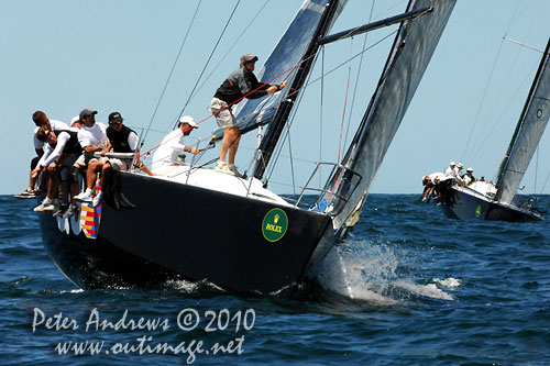 Massimo Mezzaroma's Farr 40 world champion Nerone, during the Rolex Trophy One Design Series, Sydney Australia. Photo copyright Peter Andrews, Outimage Australia.