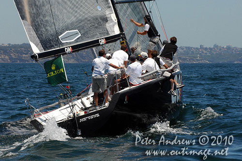 Massimo Mezzaroma and Antonio Sodo Migliori's reigning World and European champion, Nerone (ITA), during the 2010 Rolex Trophy One Design Series, offshore Sydney. Photo copyright Peter Andrews, Outimage Australia.