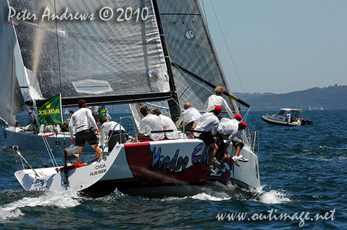 Andrew Hunn's Tasmanian entry, Voodoo Chile (AUS), during the 2010 Rolex Trophy One Design Series, offshore Sydney. Photo copyright Peter Andrews, Outimage Australia.