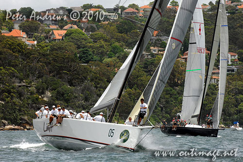 Alan Brierty's RP62 Limit, during the SOLAS Big Boat Challenge 2010 on Sydney Harbour. Photo copyright Peter Andrews, Outimage Australia.