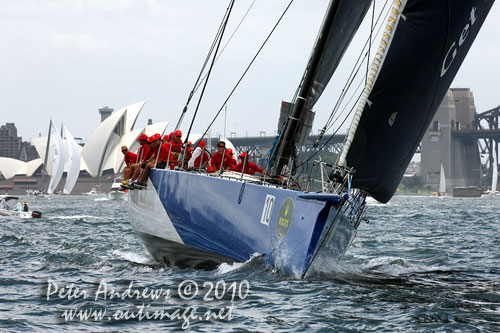 Grant Wharington's 98 footer Wild Thing, during the SOLAS Big Boat Challenge 2010 on Sydney Harbour. Photo copyright Peter Andrews, Outimage Australia.