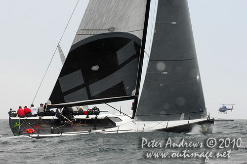 Marcus Blackmore's TP52 Hooligan, during the 2010 Rolex Trophy Rating Series offshore Sydney Australia. Photo copyright Peter Andrews, Outimage Australia.