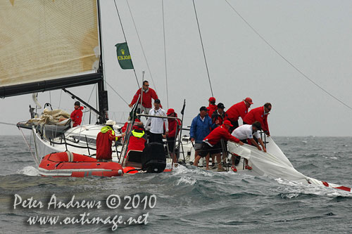 Nicholas Bartels' Cookson 50 Terra Firma, during the 2010 Rolex Trophy Rating Series offshore Sydney Australia. Photo copyright Peter Andrews, Outimage Australia.
