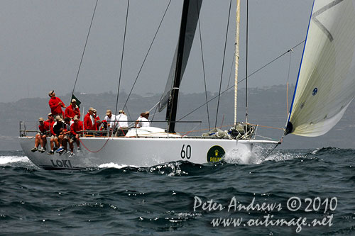 Stephen Ainsworth's Reichel Pugh 63 Loki, during the 2010 Rolex Trophy Rating Series offshore Sydney Australia. Photo copyright Peter Andrews, Outimage Australia.