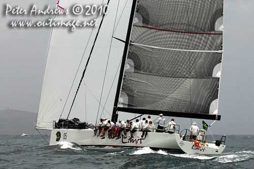 Alan Brierty's Reichel Pugh 62 Limit, during the 2010 Rolex Trophy Rating Series offshore Sydney Australia. Photo copyright Peter Andrews, Outimage Australia.