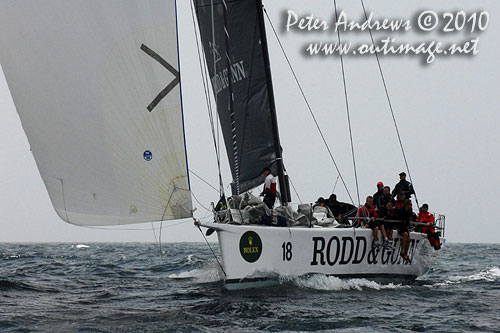 Bill Wild's Reichel Pugh 55 (former Yendys), Rodd & Gunn Wedgetail, during the 2010 Rolex Trophy Rating Series offshore Sydney Australia. Photo copyright Peter Andrews, Outimage Australia.