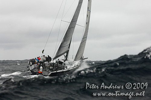 Rob Hanna's TP52 Shogun, offshore Sydney during the Rolex Trophy Ratings Series 2009. Photo copyright Peter Andrews, Outimage Australia.