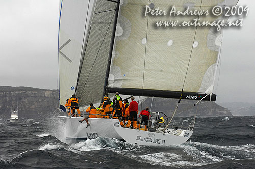 Stephen Ainsworth's Reichel Pugh 63 Loki, during the Rolex Trophy Ratings Series 2009. Photo copyright Peter Andrews, Outimage Australia.