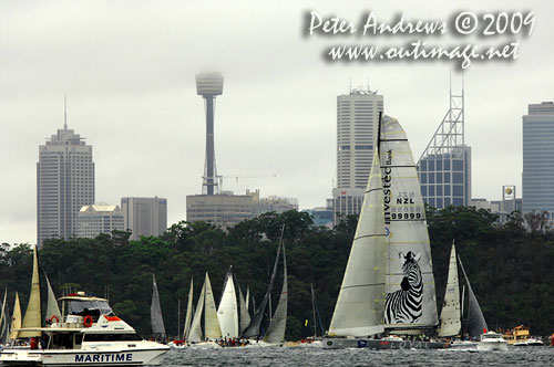 Activity on Sydney Harbour before the start od the Rolex Sydney Hobart 2009. Photo copyright Peter Andrews, Outimage Australia.