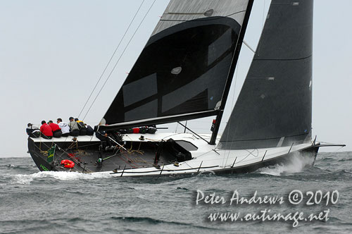 Marcus Blackmore's TP52 Hooligan, the 2010 Rolex Trophy Ratings Series winner, will not be sailing to Hobart this year. Photo copyright Peter Andrews, Outimage Australia.