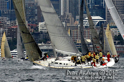 Jim Cooney's Jutson 79 Brindabella, ahead of the start of the Rolex Sydney Hobart 2010. Photo copyright Peter Andrews, Outimage Australia.