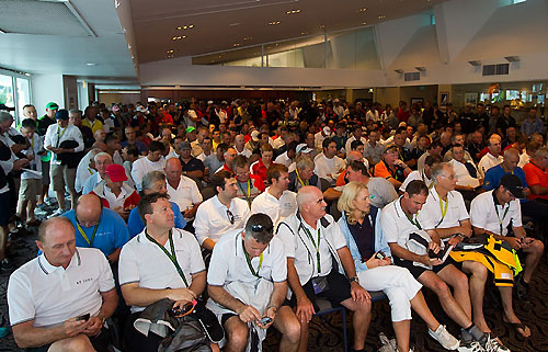 A packed race day weather briefing at the Cruising Yacht Club of Australia. Photo copyright Rolex and Carlo Borlenghi.