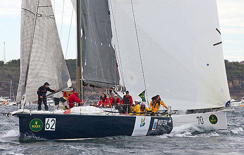Sailors with disAbilities' Nelson Marek 52 Wot Eva, just after the start of the Rolex Sydney Hobart Yacht Race 2010. Photo copyright Rolex and Daniel Forster.