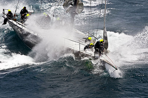 Niklas Zennström's Judel Vrolijk 72 Rán, off the New South Wales south coast during the Rolex Sydney Hobart Yacht Race 2010. Photo copyright Rolex and Carlo Borlenghi.