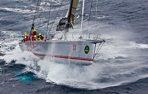 Wild Oats XI skippered by Mark Richards, offshore during the Rolex Sydney Hobart 2010. Photo copyright Rolex and Carlo Borlenghi.