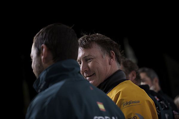 Telefónica's navigator, Australian Andrew Cape after Telefónica, skippered by Iker Martinez from Spain finished first were the first to finish Leg 1 of the Volvo Ocean Race 2011-12 from Alicante, Spain to Cape Town, South Africa. Photo Paul Todd / Volvo Ocean Race.
