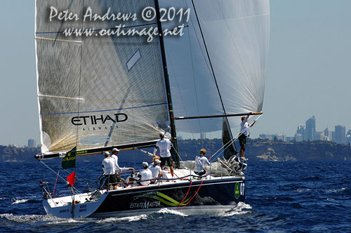 Lisa and Martin Hill's Estate Master (AUS), during the Rolex Farr 40 World Championships 2011, Sydney Australia. Photo copyright Peter Andrews, Outimage Australia.