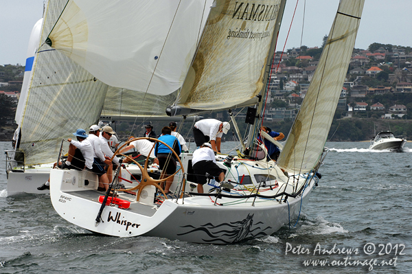 Bruce Ferguson's Sydney 38 Whisper, during the CYCA Trophy One Design Series 2012. Photo copyright Peter Andrews, Outimage Australia 2012.