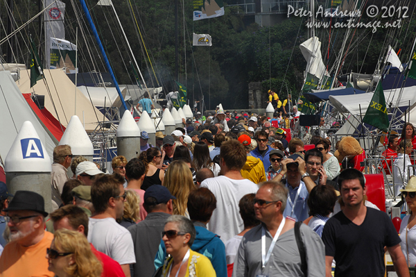 Dockside at the Cruising Yacht Club of Australia ahead of the start of the 2012 Sydney Hobart Yacht Race. Photo copyright Peter Andrews, Outimage Australia.