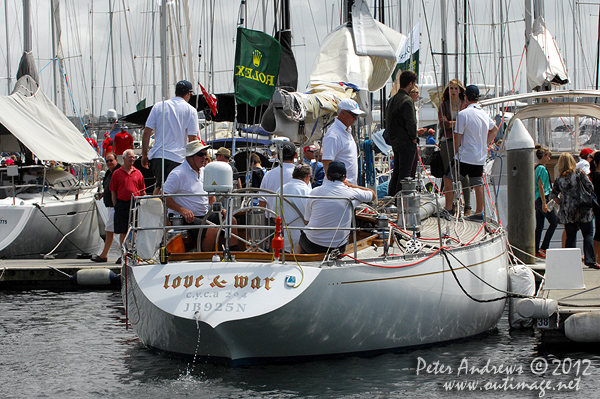Simon Kurts' S&S 47 Love & War, ahead of the start of the 2012 Sydney Hobart Yacht Race. Photo copyright Peter Andrews, Outimage Australia.