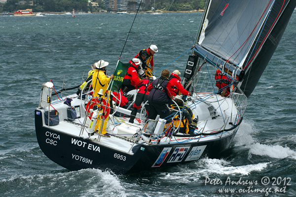 David Pescud's Nelson Marek 52, Sailors with disABILITIES, on Sydney Harbour ahead of the start of the 2012 Sydney Hobart Yacht Race. Photo copyright Peter Andrews, Outimage Australia.
