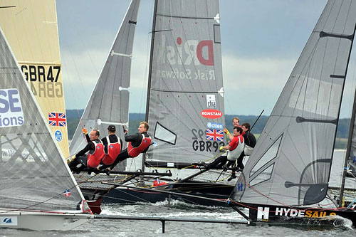 Skiff action at the German 18 Foot Skiff Grand Prix. Photo copyright Christophe Favreau.
